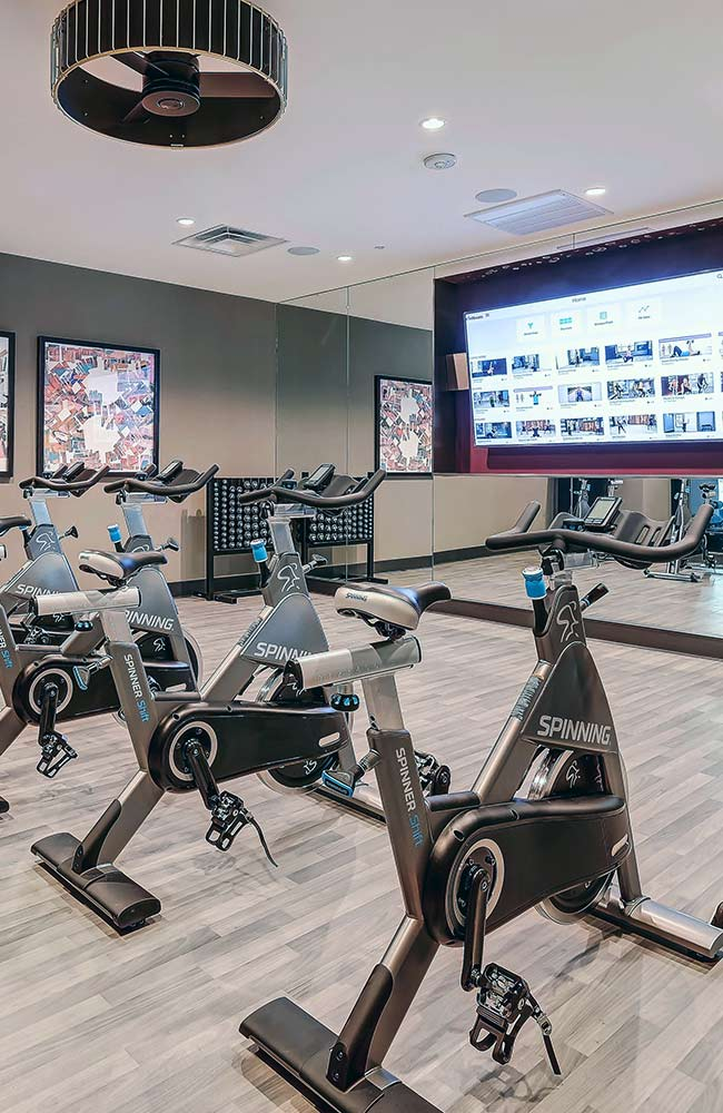 Fitness Center High Rise Apartment Development Dallas