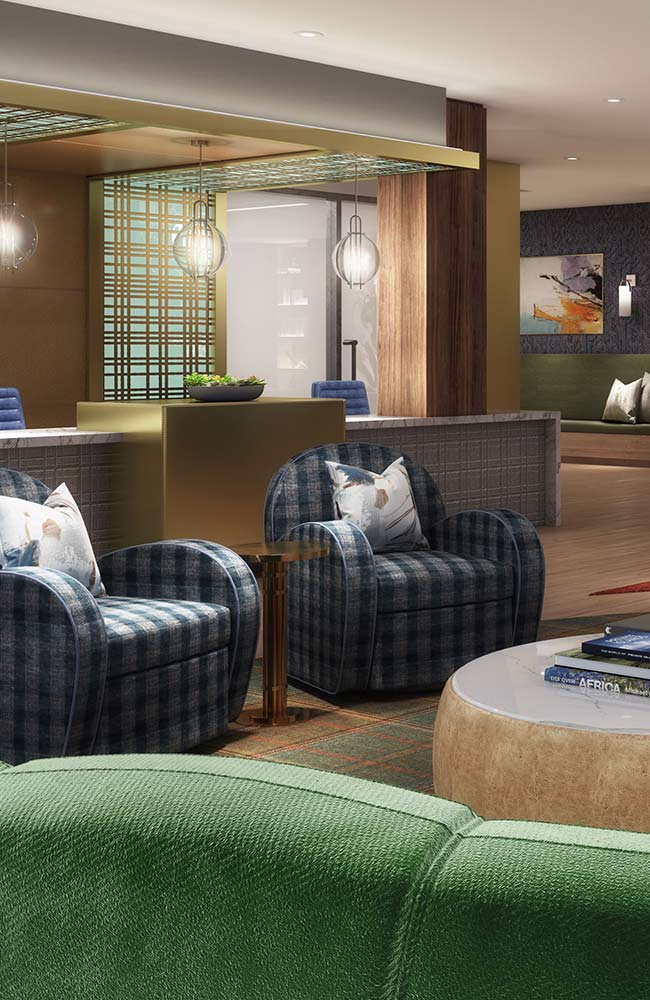 The Jackson amenity space in Arlington Texas developed by StreetLights Residential