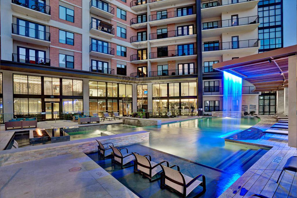 Pool at The Taylor Dallas Texas Apartment Developer StreetLights Residential
