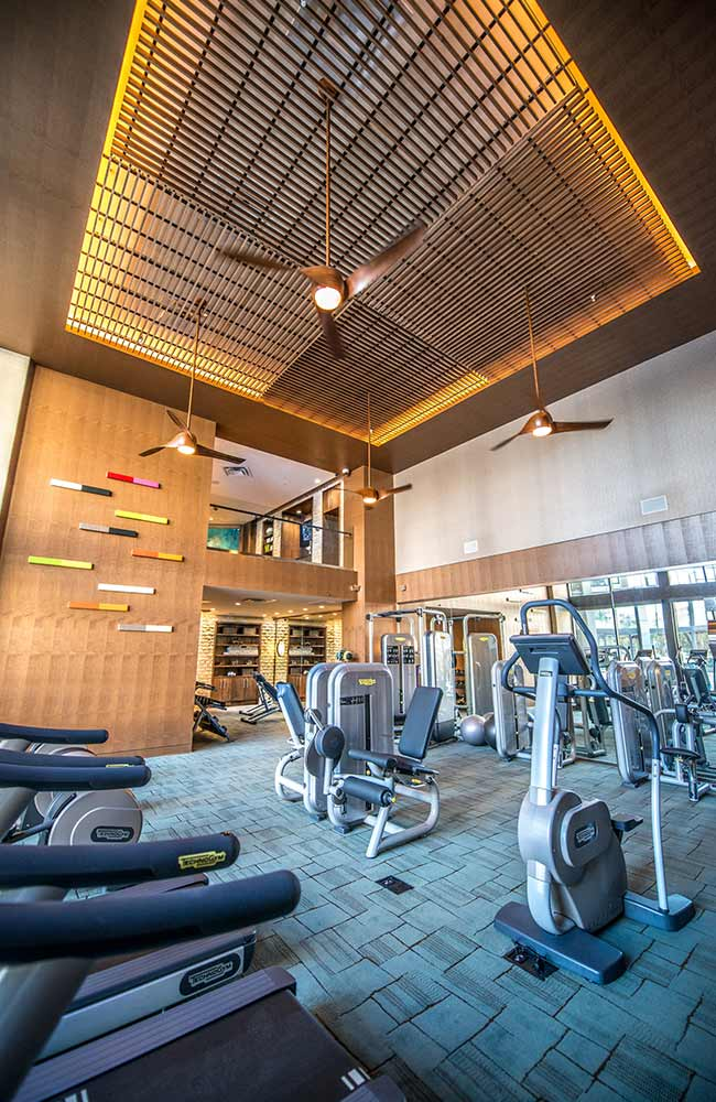 The Taylor Dallas Texas Fitness Apartment Kitchen High Rise Multifamily StreetLights Residential